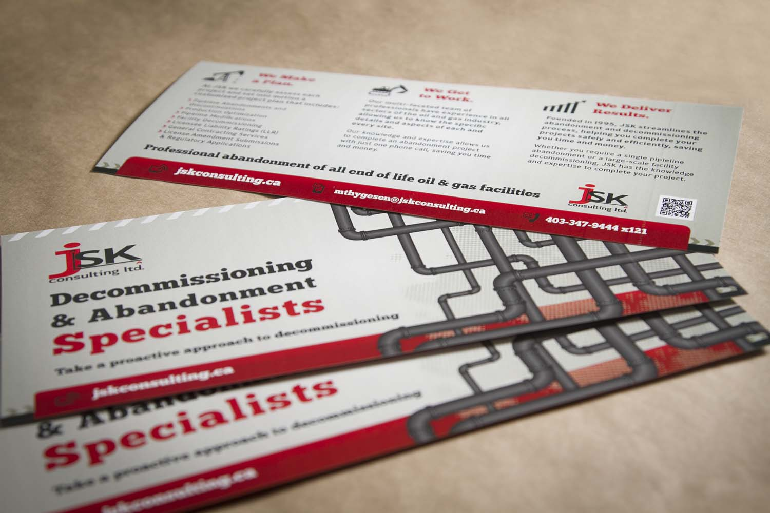 JSK Consulting Rack Card & Website