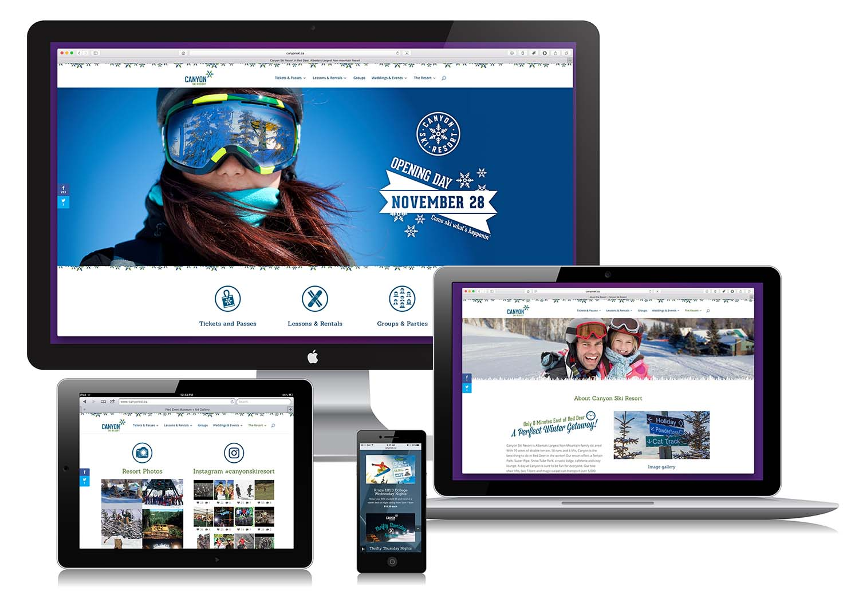 Canyon Ski Resort Website