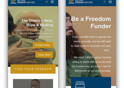 Red Deer Dream Centre Mobile Experience