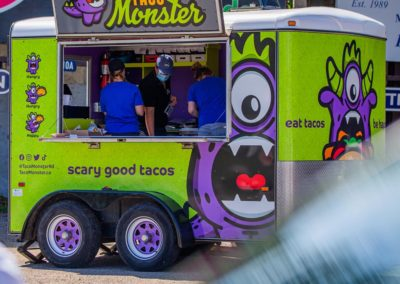 Taco Monster Trailer Wrap Design