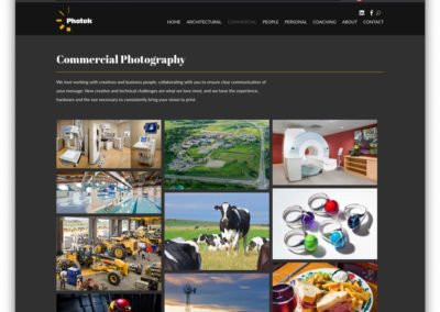 Photek Commercial Photography Portfolio Page